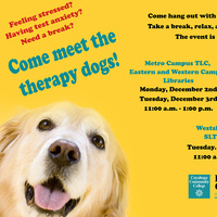 Therapy Dogs @ the Western Campus Learning Commons - Library