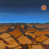 """Mario Carreño, """"Agonía del Planeta"""" (""""Agony of the Planet""""), 1977, Oil on canvas, Gift of the Artist, MET 79.9.1"""