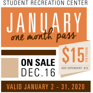 January One Month Pass - On Sale Now