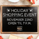Holiday Shopping Event