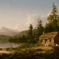 """Object of the Month: """"Home in the Woods"""" by Thomas Cole"""
