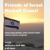 Friends of Israel Kickoff Event!