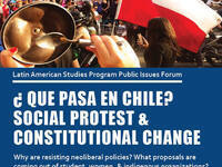 """""""¿Que Pasa en Chile? Social Protest & Constitutional Change,"""" 4:30pm at G08 Uris Hall"""
