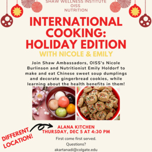 International Cooking: Holiday Edition