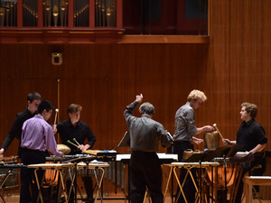 Oberlin Percussion Group in performance.