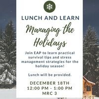 WELLNESS:   Lunch and Learn - Managing the Holidays