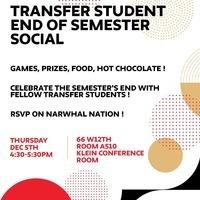 Transfer Student End of Semester Social