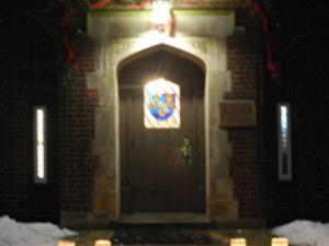 Lynch Hall at night