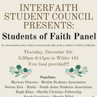 Students of Faith Panel