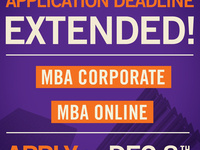 Deadline Extended: MBA Corporate & Online