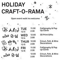 Holiday Craft-O-Rama: Calligraphy & Pop Up Cards!