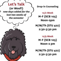 NEW! Let's Talk Drop-In Counseling