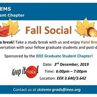 Upcoming Fall Social by IEEE Grad Student Chapter