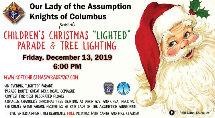Knights of Columbus Children's Christmas Parade and Copiague Chamber Tree LIghting