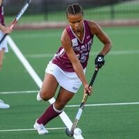 Kali Williams controls the ball on the field
