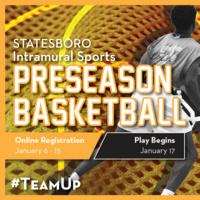 Pre-Season Basketball Intramural Registration