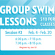 Group Swim Lessons Session 3 Registration