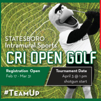 CRI Open Golf Tournament Intramural Registration