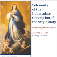 Solemnity of the Immaculate Conception of the Virgin Mary