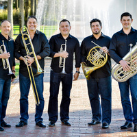 Boston Brass ensemble with instruments