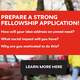 Prepare a Strong Impact Entrepreneurship Graduate Fellowship Application