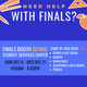 Finals Booth graphic with details text