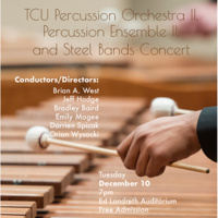 Percussion Orchestra II, Percussion Ensemble II, and Steel Bands concert