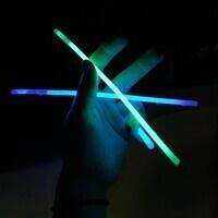 Two glow sticks