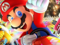 Video game character Mario raising his fist in excitement