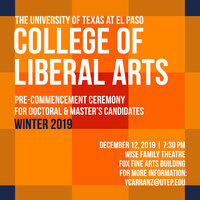 College of Liberal Arts: Pre-Commencement Ceremony for Doctoral & Master's Candidates