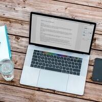 An open laptop screen