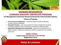 Human Resources Cannabis Industry Certificate Program