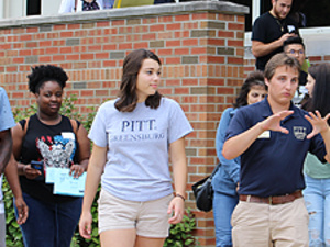 PittPAL leads a campus tour at Pitt-Greensburg