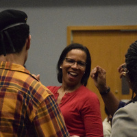 Photos of individuals at the Taste of Soul event.