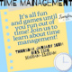 CHASS Transfers F1RST: Time Management Workshop