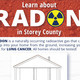 Flyer advertising free radon presentations in Storey County