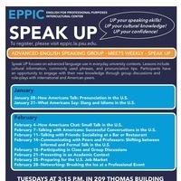 Speak UP: Weekly Speaking Group