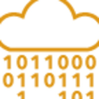 Cloud with binary code raining from it