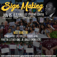 Sign Making for March for Life and MLK Rallies