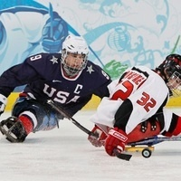 Guest speaker Andy Yohe Captain of Team USA sled hockey gold medal winner.