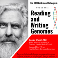 Beckman Scholars Program - Reading and Writing Genomes