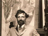photo (detail) of Alphonse Mucha
