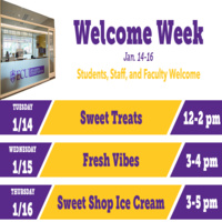 Off-Campus Student Services Welcome Week-Sweet Shop Ice Cream