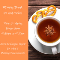 Morning Break: Tea and Cookies with the Office of Winter Term