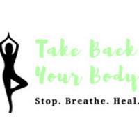 Take Back Your Body Yoga Logo. Stop. Breathe. Heal.