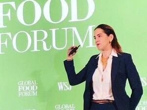 Amanda Little speaks at the Global Food Forum