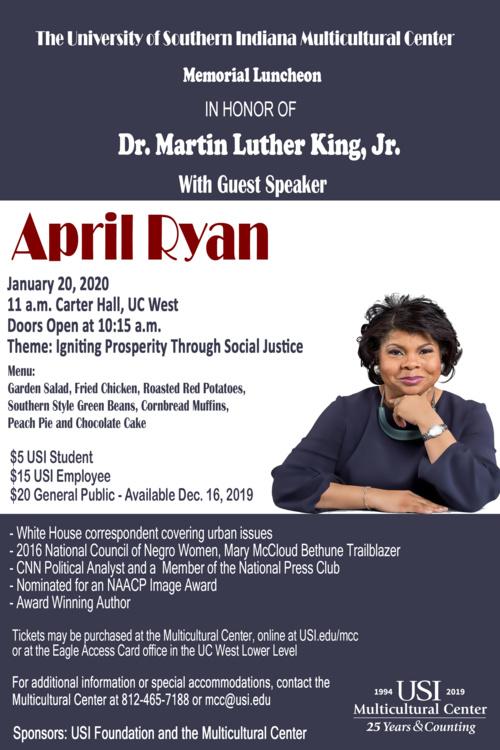 Martin Luther King Jr. Memorial Luncheon  at University Center