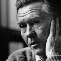 Black and white image of William Stafford