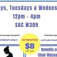 $8 - 30 minute chair massage