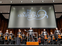 Austin Symphony musicians on stage